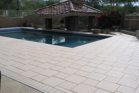 Artistic Pavers Installed In Arizona Stone Creations