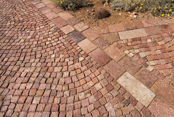 Natural Stone Pavers : Natural stone pavers brick installed in arizona