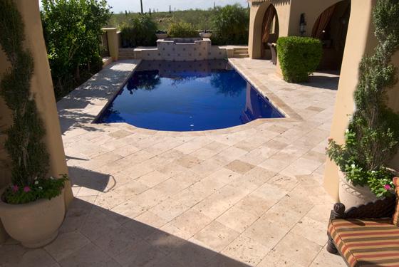Travertine Pavers Installed In Arizona Stone Creations
