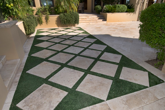 Find Us On   Travertine Pavers Installed In Arizona Stone Creations